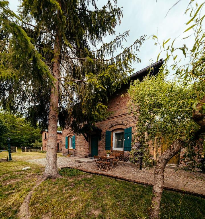 Dyszno Las -domek dróżnika w lesie,2 km od jeziora