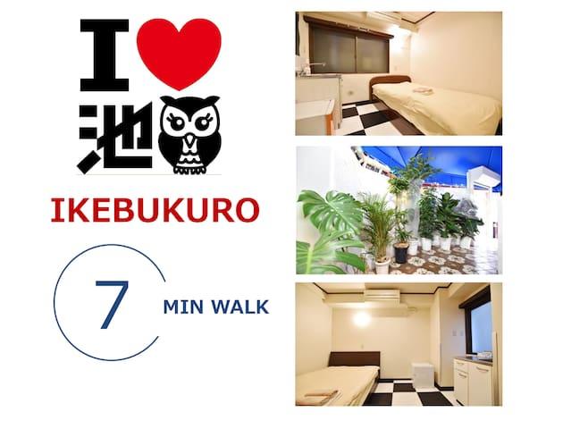 27★New Renovated Room 7min walk JR IKEBUKURO STA