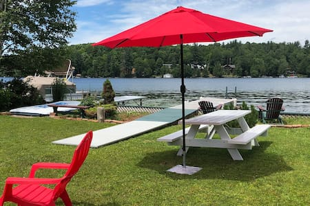 Stunning Adirondack Waterfront Camp on Lake Flower