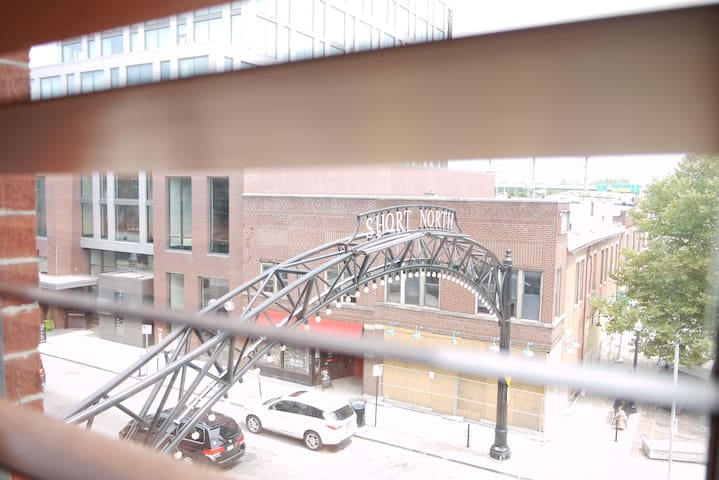 A look out to the historic Short North Arts District