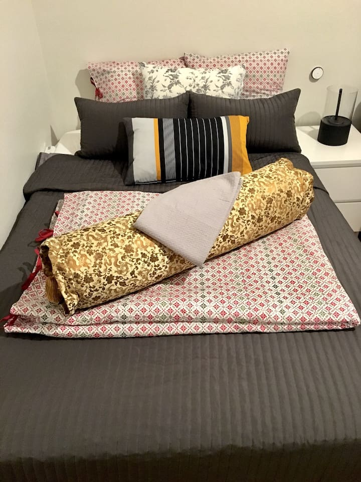Your double bed. 140 x 200 cm.
