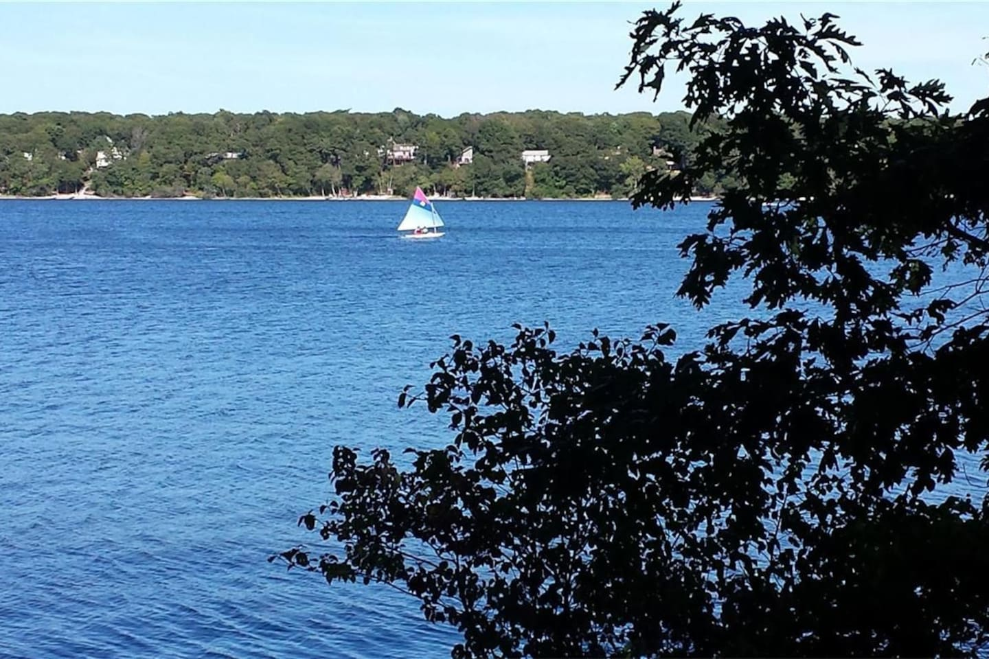 beautiful capecode home with fresh pond waterview