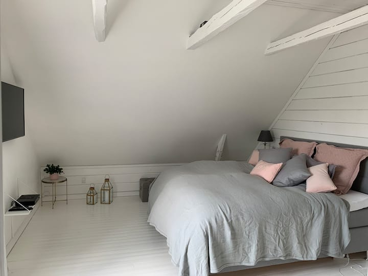 Room in cozy town house close to city and station