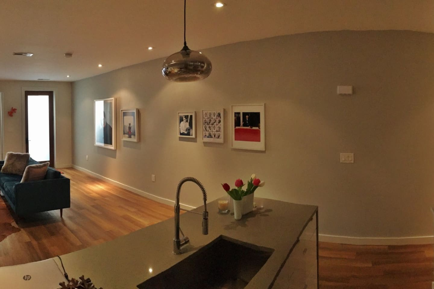 Spacious open plan living and dining room