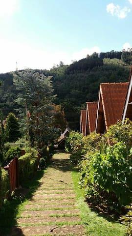 Chalé p/ Casal Lareira e cozinha n7 - Monte Verde - Chalet