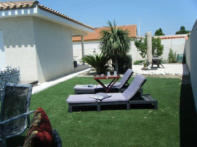 Appartement indépendant dans villa grand extérieur