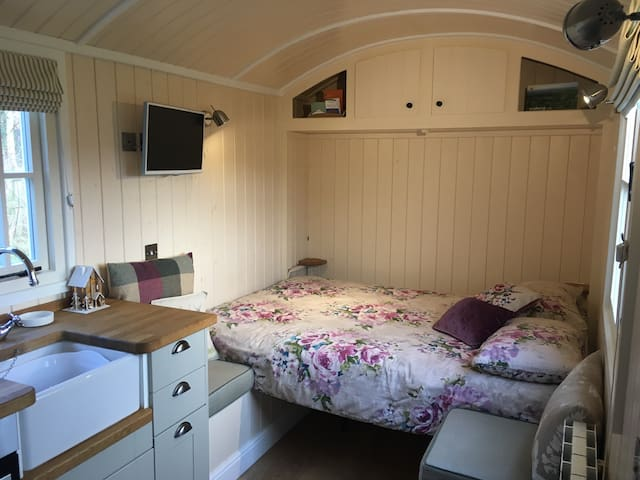 Comfortable pull-down full size double bed. Fresh linen included.
