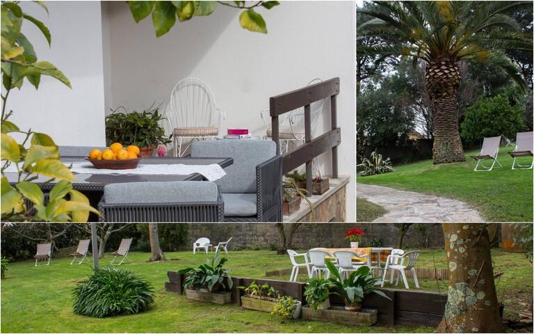 Casa zona playa con amplio jardin A Coruña Galicia - Perillo - Huis