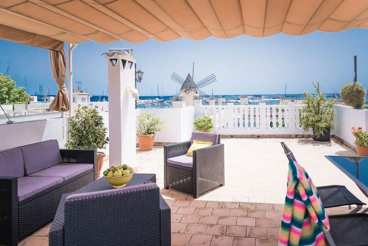 Apartment with huge roof terrace and sea view - Palma - Pis