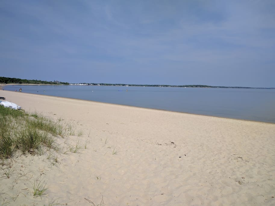 Bayside beach is ideal for kayaking or paddleboarding or for kids