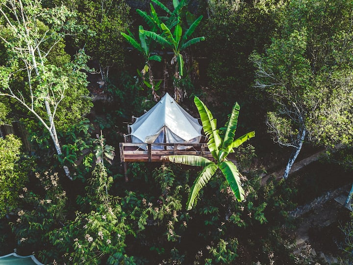 Glamping in the mountains of Munduk