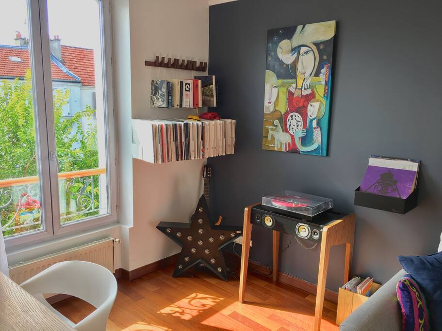 Living Room - our music corner