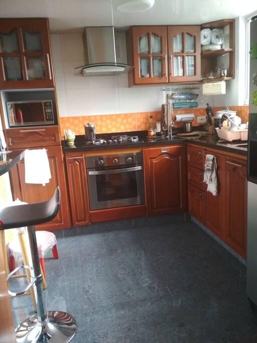 Área de cocina disponible