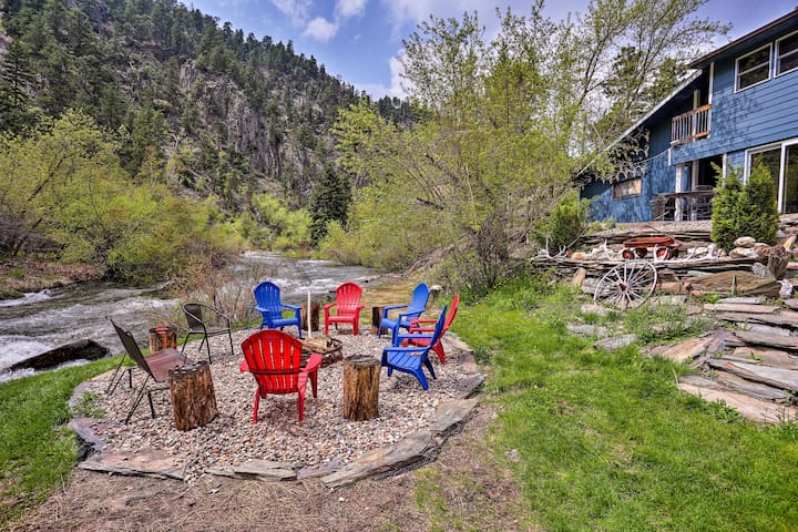 NEW! Rapid Creek Waterfront Cabin in Black Hills!