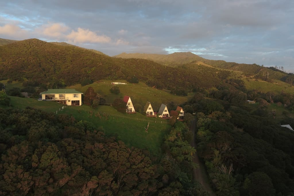 The Coromandel hills above the chalets