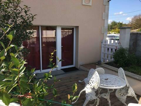 Maison de 50m2 avec terrasse privative au calme