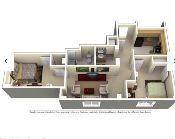 luxurious apartment for Rent per day/week