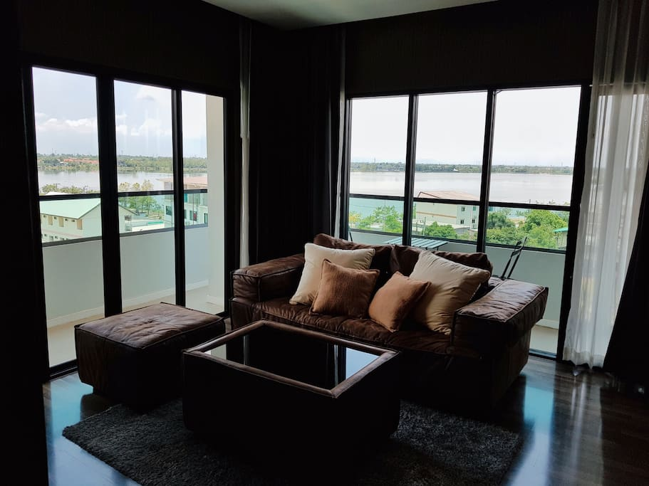 Lake view from the sofa