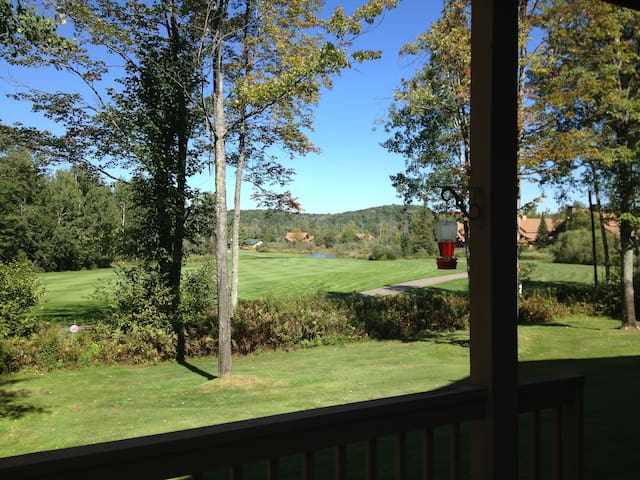 Quiet condo with view of Schuss Mtn. Golf Course.