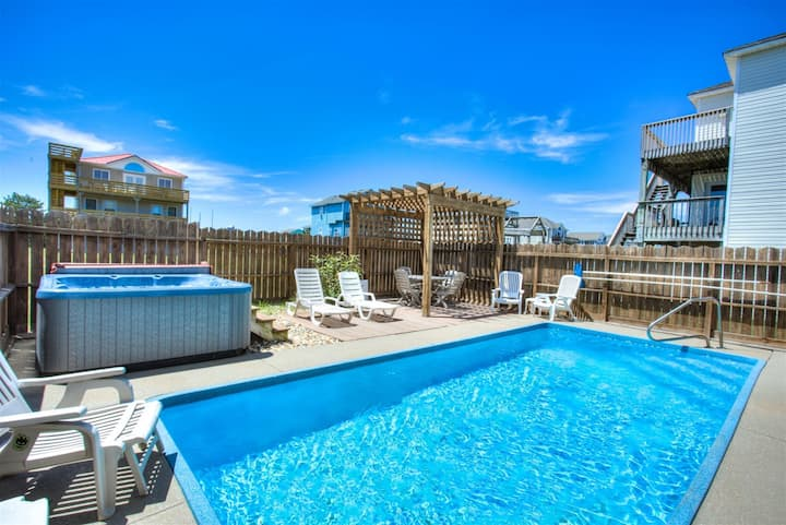 6020 Summer Fun * 2 Min Walk to Beach * Dog Friendly * Private Pool * Pool Table