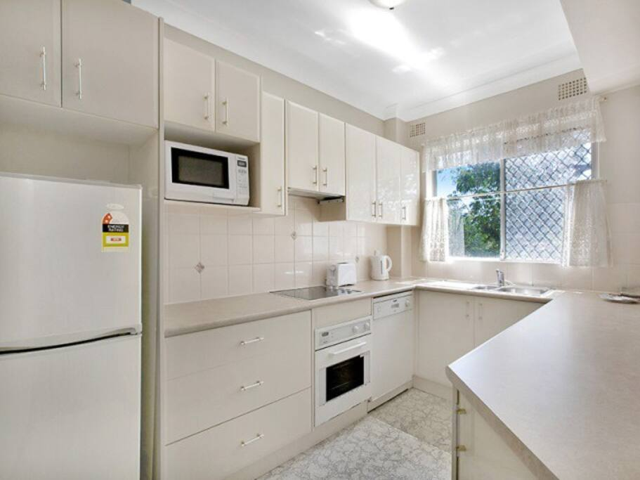 Kitchen with internal laundry off.