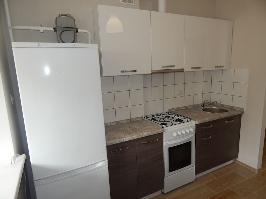Кухня. Холодильник. Рабочая зона