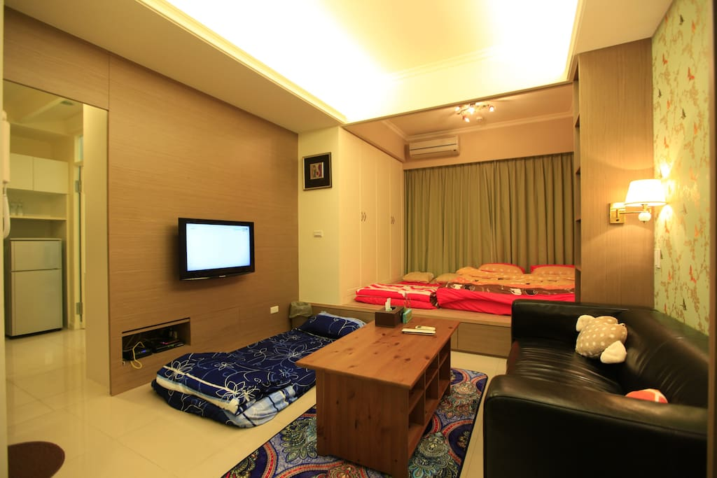 A1房型-客廳&和室(加床) living room&Japanese-style room(extra bed)