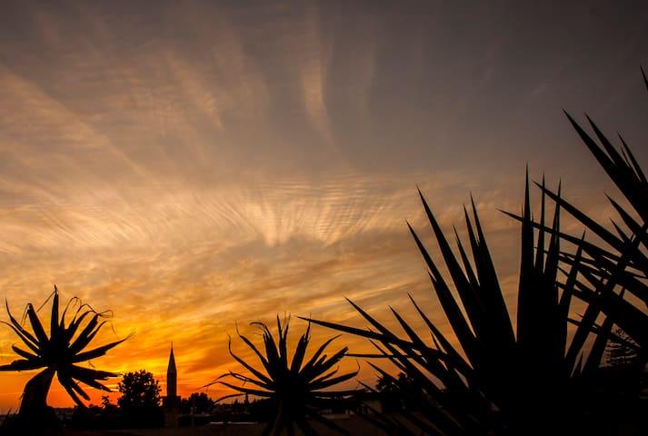 Beautiful sunset from the veranda.
