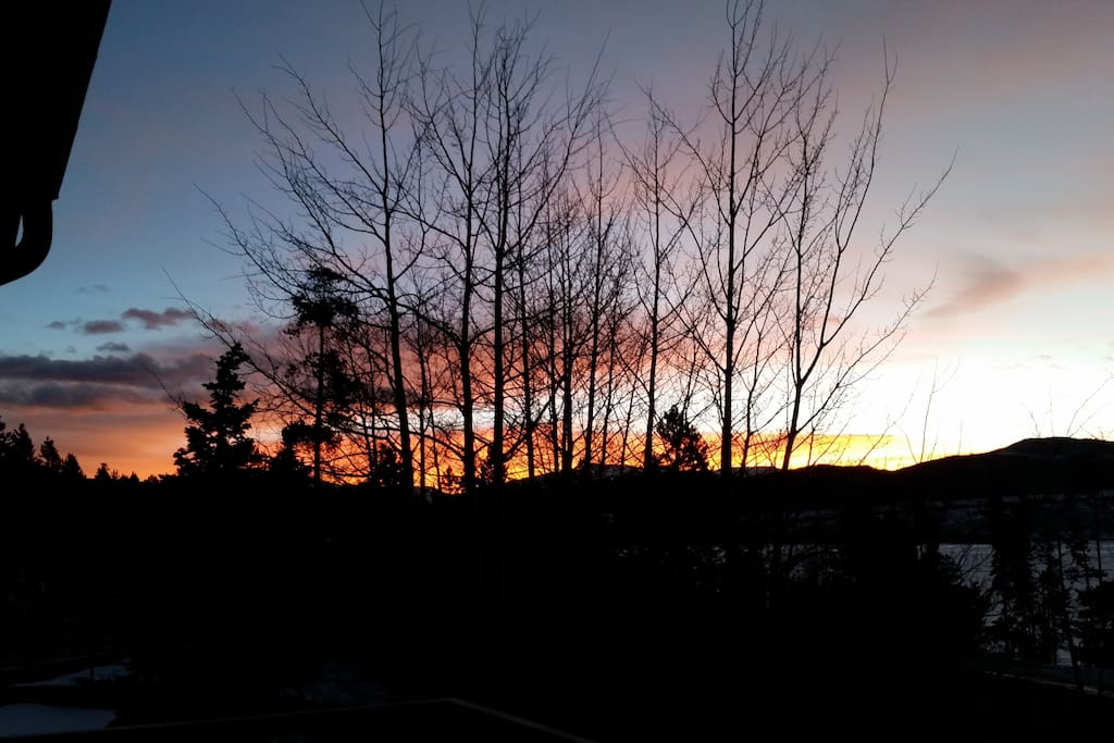 January sunset from deck