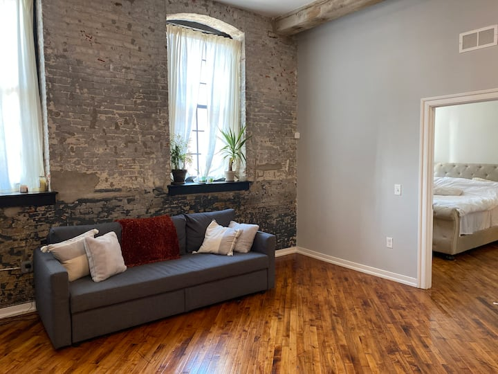 Cozy newly renovated two bedroom two bath loft