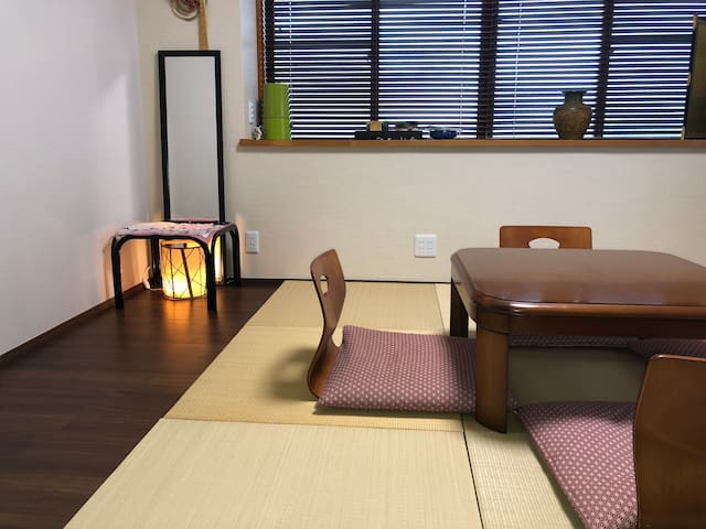 Japanese-style room.   tatami.   Japanese style chair Capacity 2