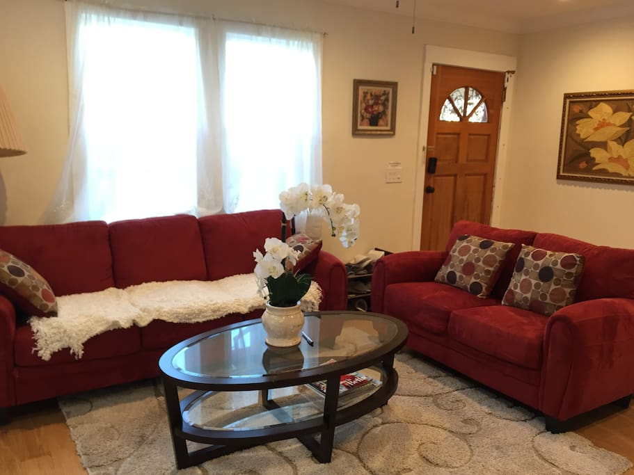 Sofas in the living room