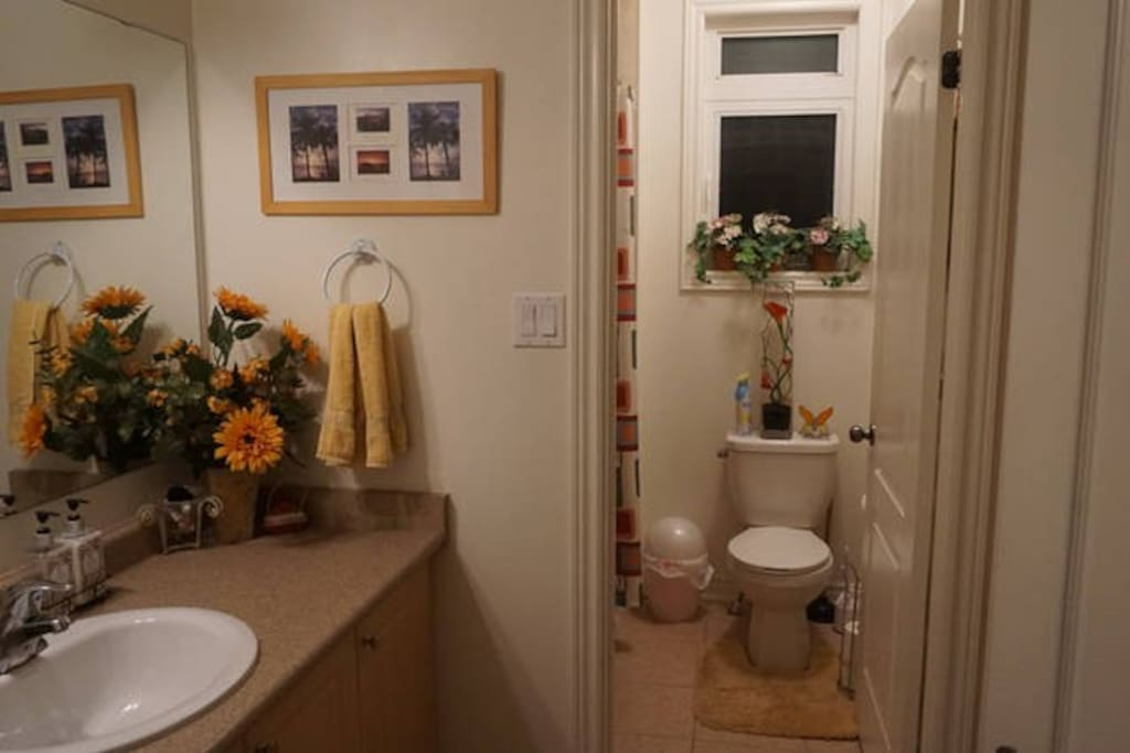 Private washroom and a powder room