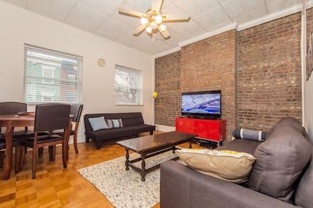 Lovely Hoboken Apartment w/Deck, close to NYC! - Hoboken - Leilighet