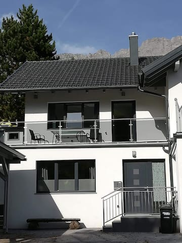 Haus Emma with its own entrance, front and side balcony.  parking available in the carport and off road, in front of the house.