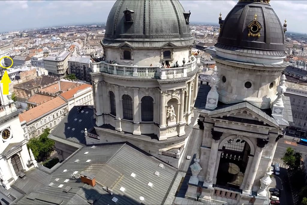 My apartment from Saint Stephen's Basilica - (1 minute)