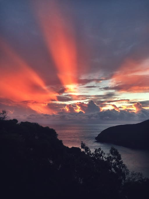 Spectacular sunsets from the deck.