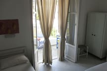 Front room with balcony.  To see videos of the rooms, please try you tube hotel parko channel.