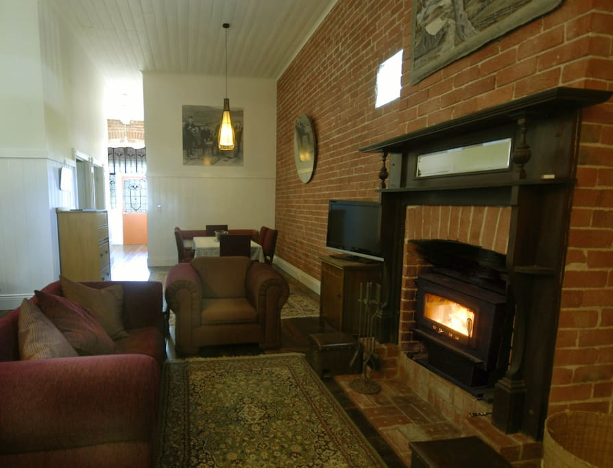 Enjoy a night in on a cold winters night in front of a wood fire heater