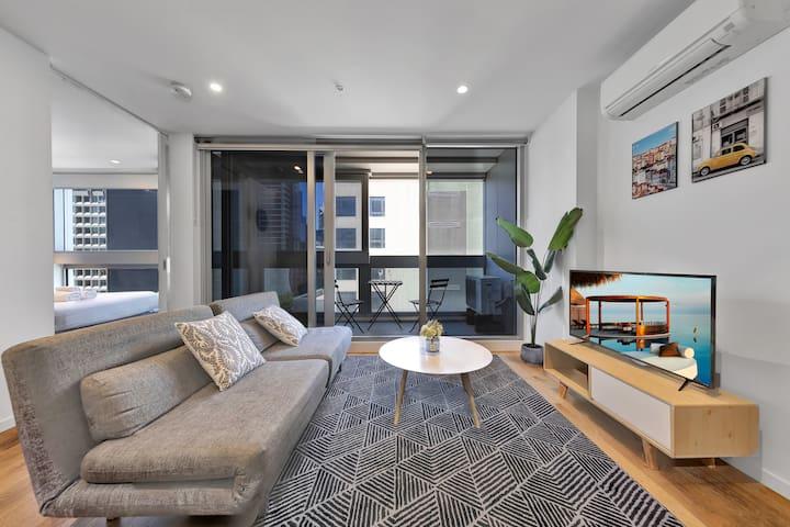 墨尔本时尚一房公寓 设施齐全@Southern Cross #6