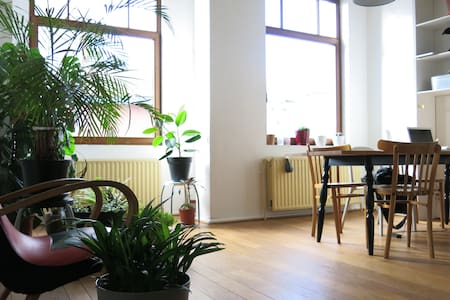 Sunny house, bedroom and private bathroom, Ixelles - Elsene