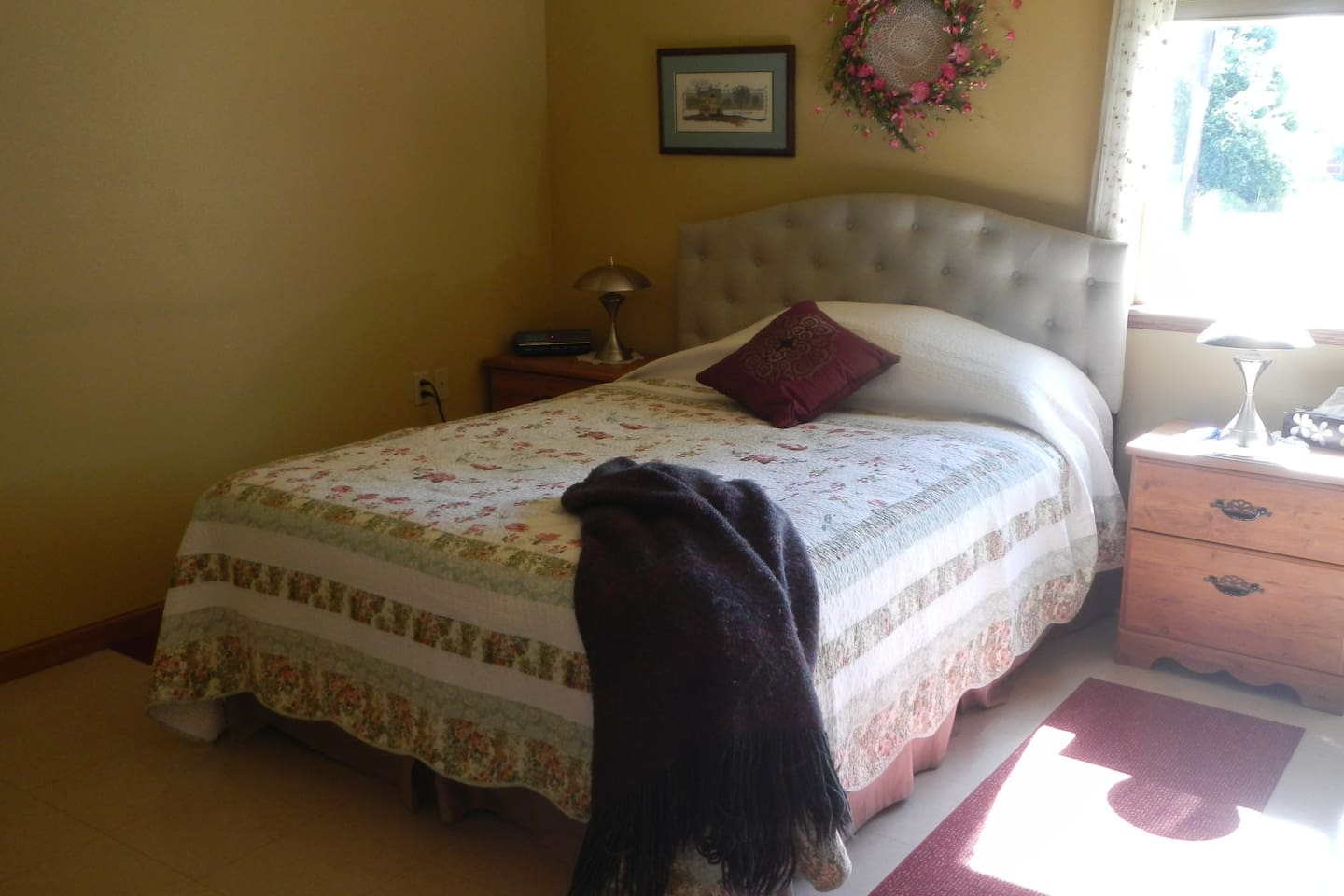 This is the master bedroom with queen size bed connected to full bathroom.