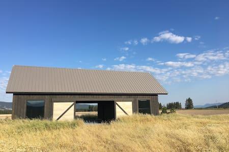 Modern Barn with Mountain Views