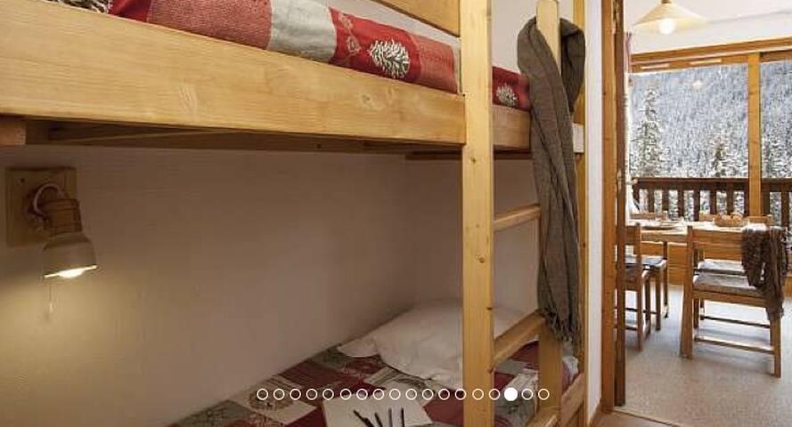 Studio cabine 4 personnes 27m2 Meribel Mottaret - Les Allues - Apartment