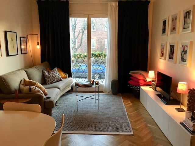 Cozy flat in Swedish style close to city centre.