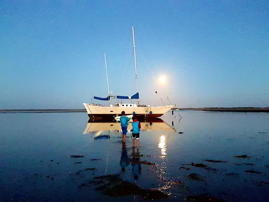 Low tide at fullmoon