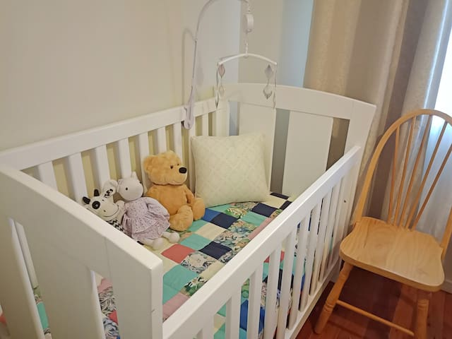 High Quality Cot in the Spring Room with One Double Bed