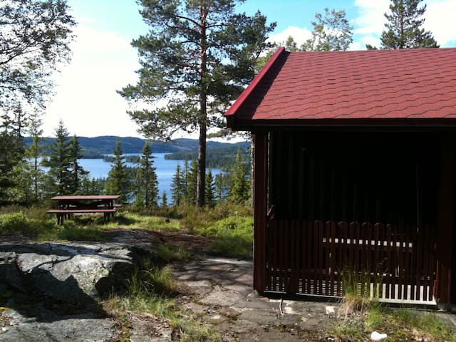 Beautiful cabin with a magnificent view - Ringkollen - Hytte