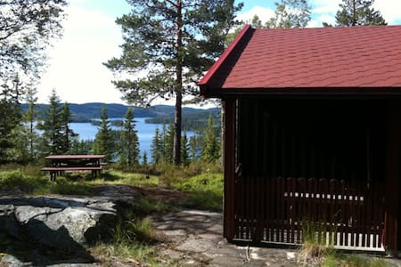Beautiful cabin with a magnificent view - Ringkollen - Blockhütte