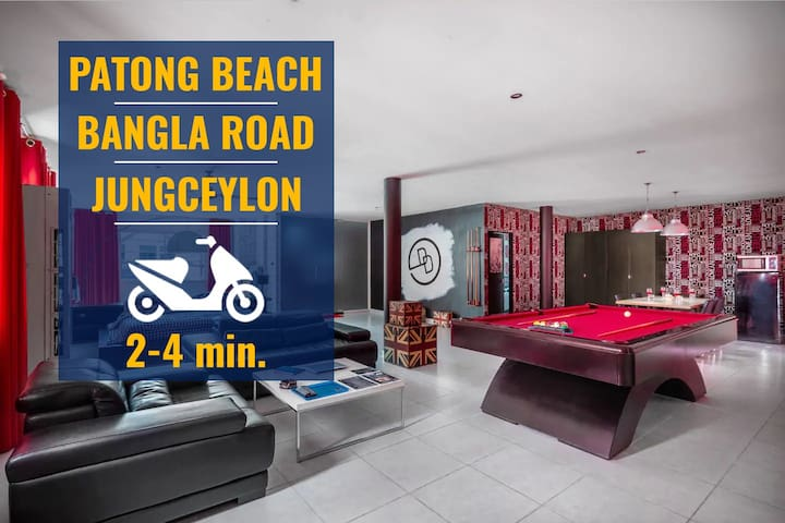 ✅2 bd loft in Patong with pool table